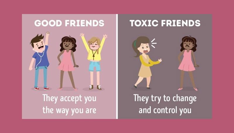 ความแตกต่าง เพื่อนดี เพื่อนสนิท เพื่อนไม่ดี