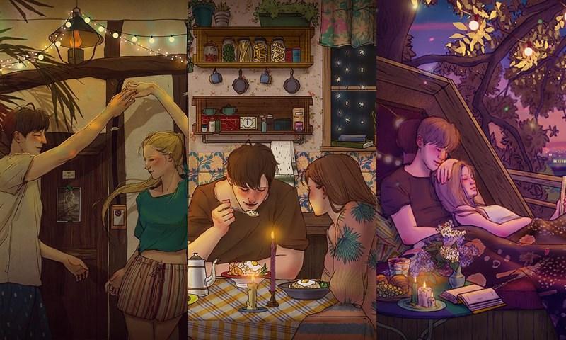 คู่รัก ภาพวาด เกาหลี